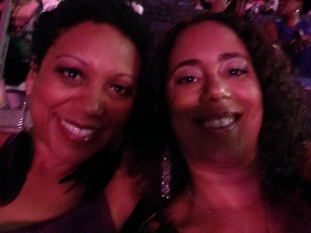 Me and my homegirl T at the Prince concert.