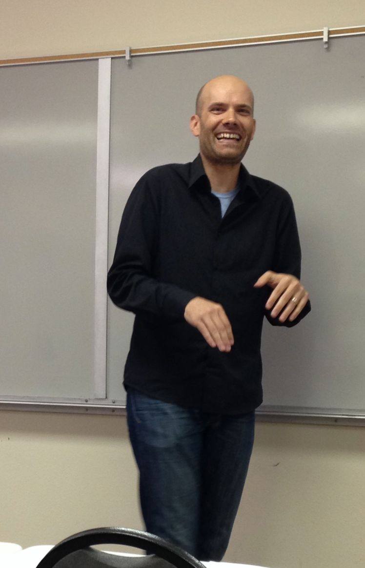 Chris Baty, Founder of NaNoWriMo, at the LERA meeting, October 11, 2014.