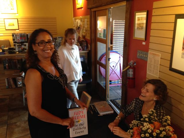 Me and Judy Blume at IN THE UNLIKELY EVENT book signing at Collected Works Bookstore in Santa Fe