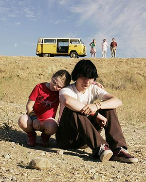 Olive comforts her brother Dwayne in Little Miss Sunshine.