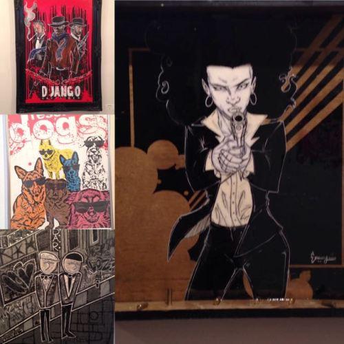 "From super cool ""Tarantino vs Kubrick"" art exhibit."