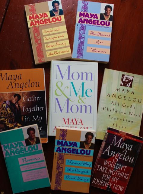 My collection Maya Angelou's books
